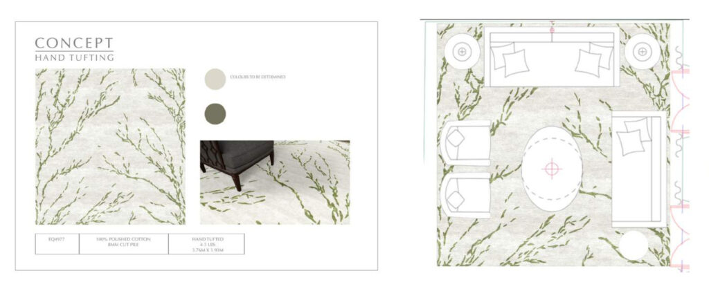 Image demonstrating the artwork process for bespoke projects